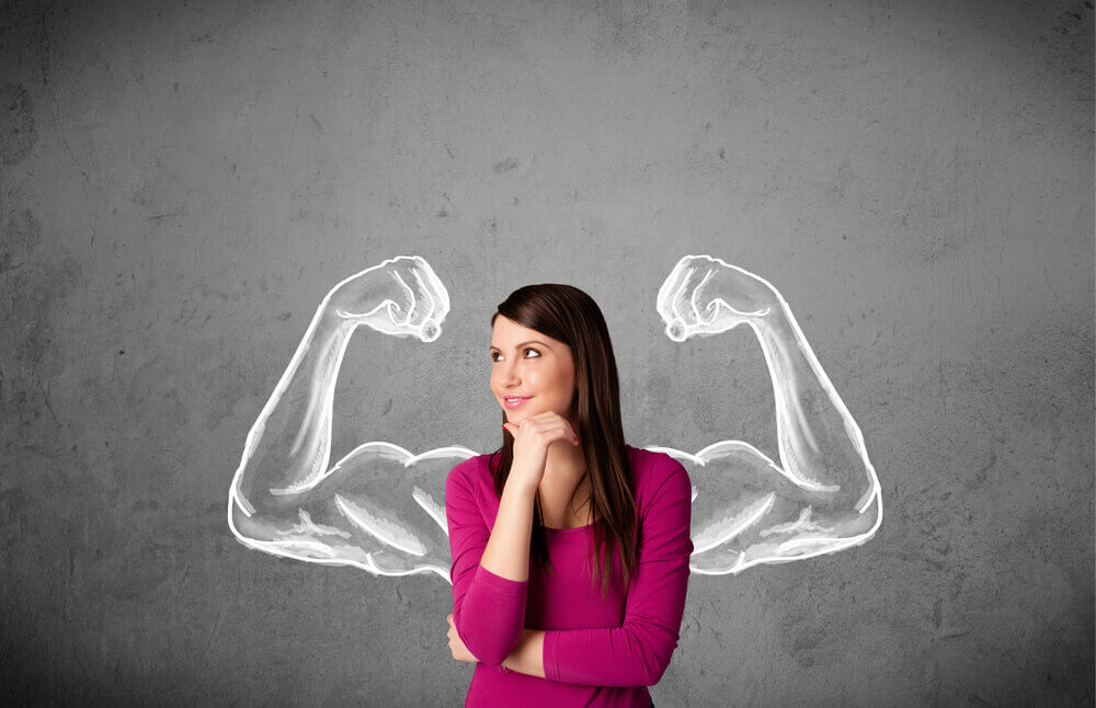 strong woman considering counseling