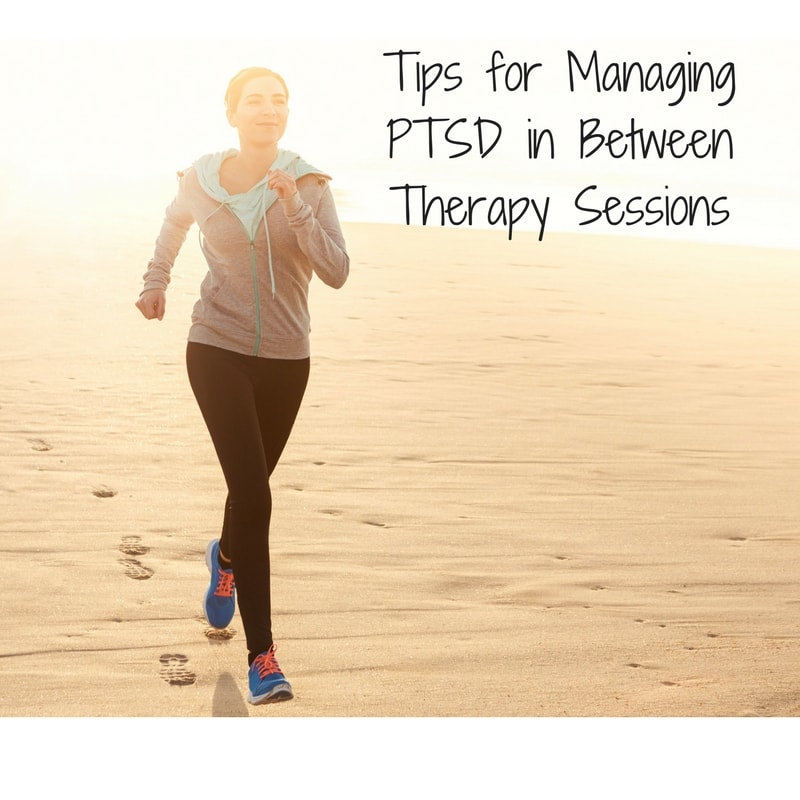 Woman with PTSD exercising