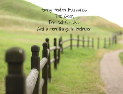 Having Healthy Boundaries