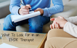 EMDR therapist and client